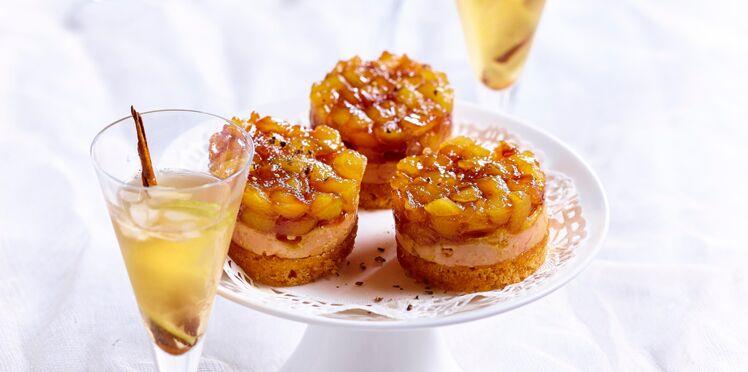 Mini-Tatins de foie gras