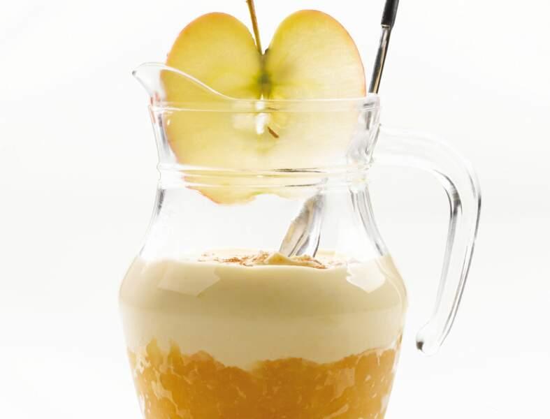 Verrines pommes et camembert