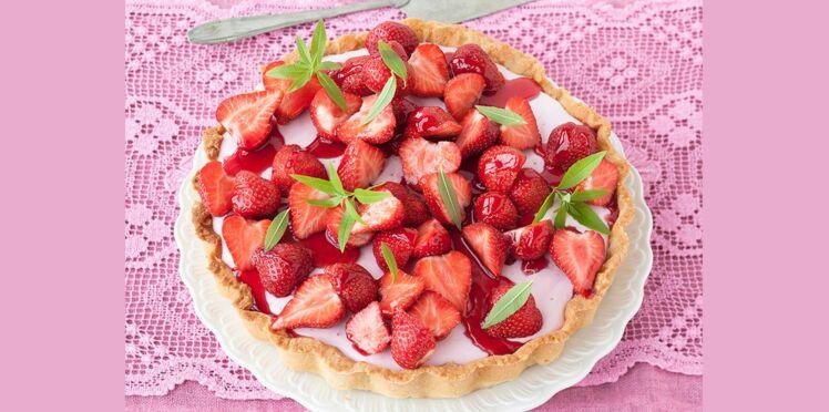 Tarte à la mousse de fraises