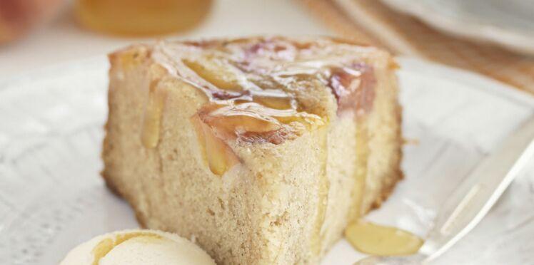 Gâteau aux pêches fraiches