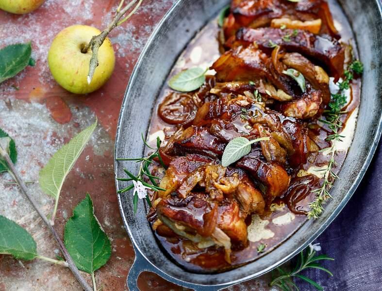 Porc au cidre et à la pomme