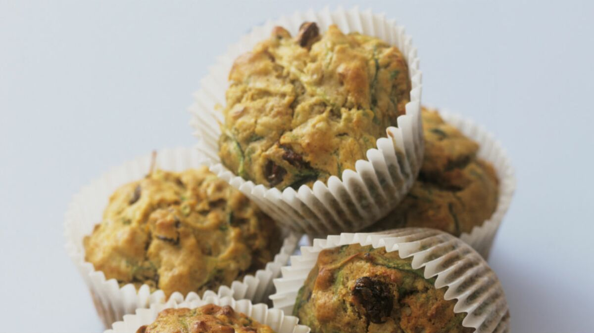 Muffins de courgettes, chèvre et citron