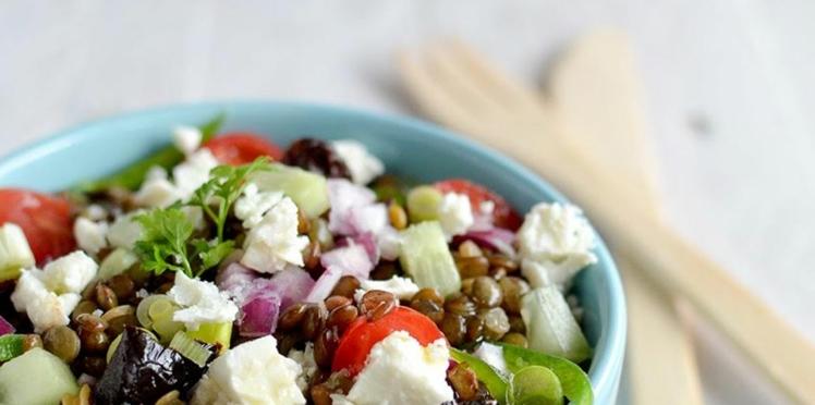 Salade de lentilles au Salakis