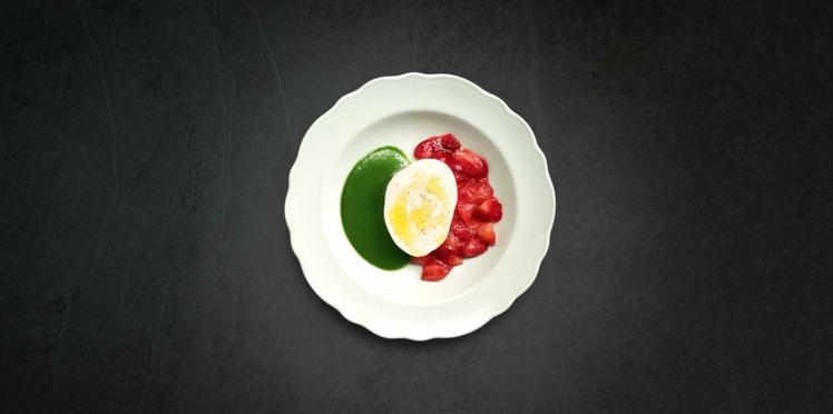 Mozzarella à la fraise de Jean Imbert