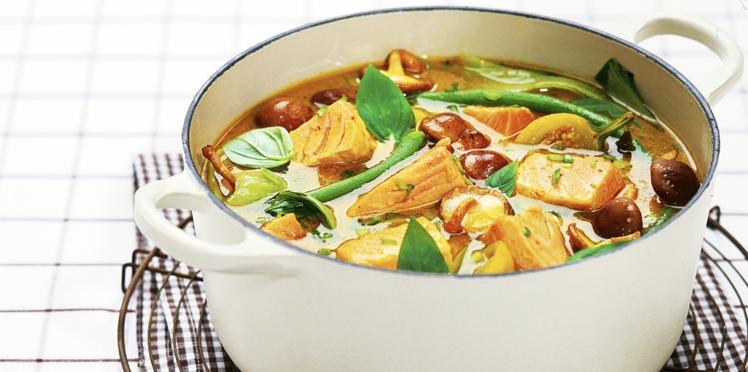 Potage de saumon de Norvège aux saveurs asiatiques