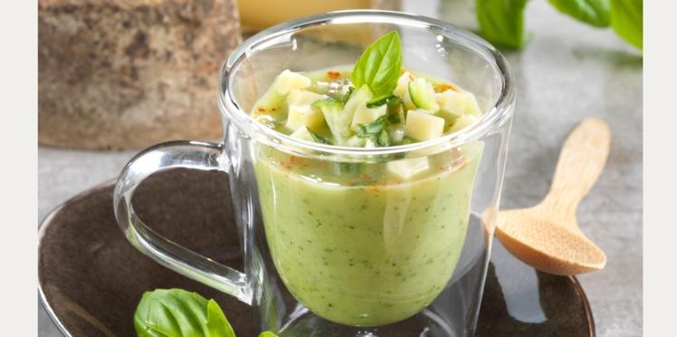 Soupe glacée de courgettes à la Tomme de Savoie