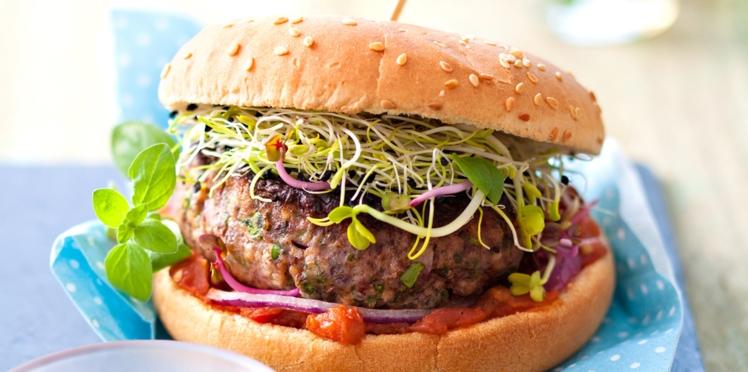 Burgers veggie aux graines germées