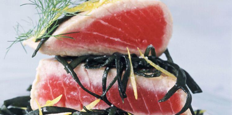 Cœur de thon aux spaghettis de mer