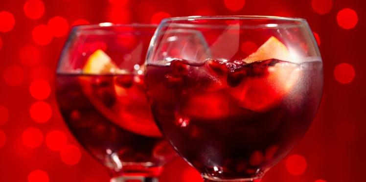 Cocktail de fête : sangria à la grenade