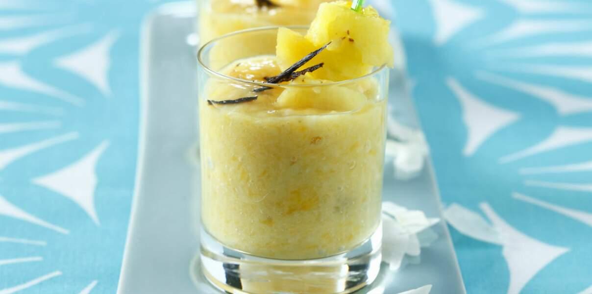 Mousse à l'ananas sans sucre ajouté