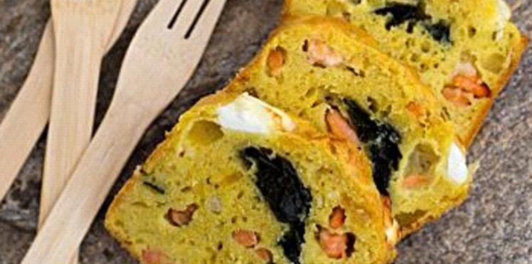 Cake aux algues et aux crevettes