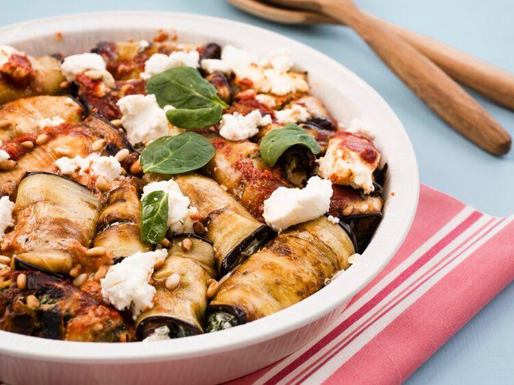 Gratin d'aubergines au fromage de chèvre allégé : découvrez les recettes de cuisine de Femme Actuelle Le MAG