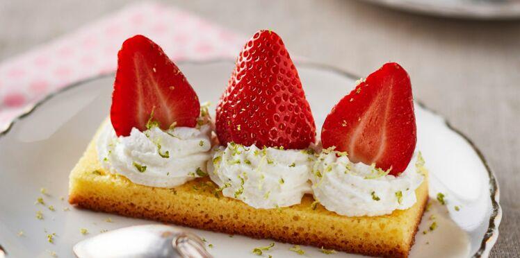 Finger moelleux aux fraises