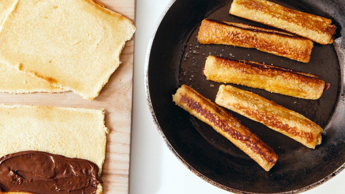 pain perdu au nutella la po le d couvrez les recettes. Black Bedroom Furniture Sets. Home Design Ideas