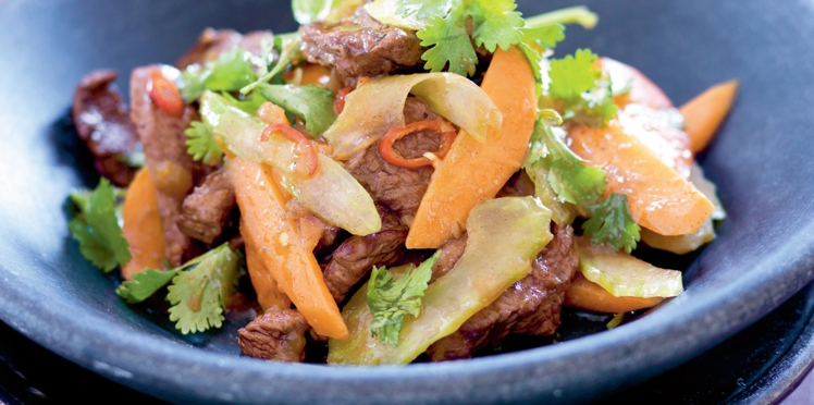 Sauté de bœuf au piment et à la coriandre