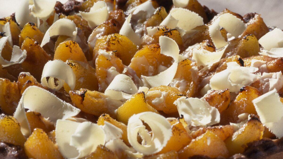 Tarte gourmandine abricot et chocolat blanc