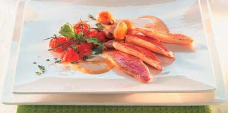 Filets de rouget sauce ricotta
