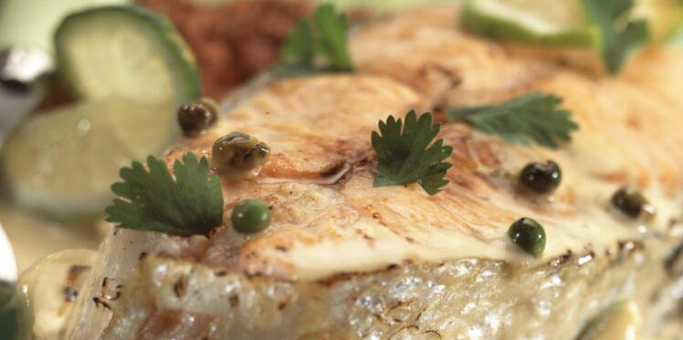 Darnes de saumon, sauce citron et échalotes