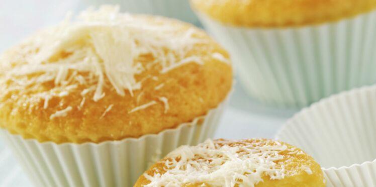 Muffins au chocolat blanc et à la noix de coco