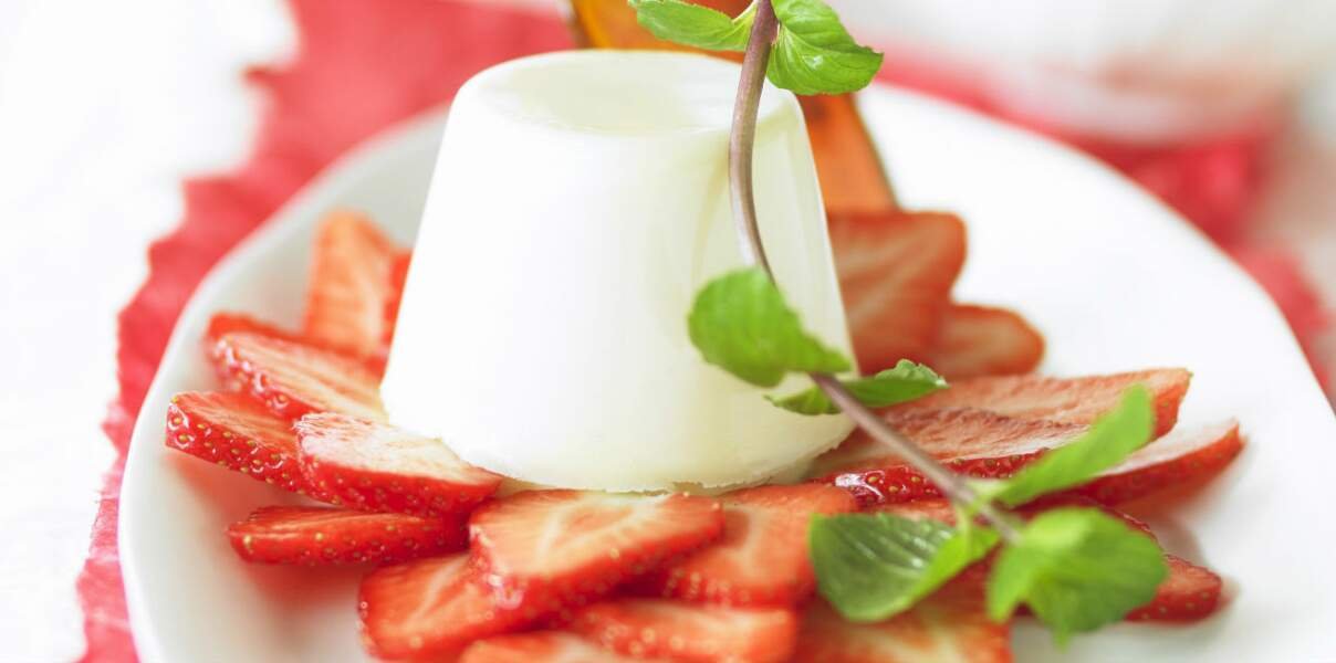 Panacotta à la fraise