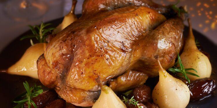 Pintade Fermière farcie au pain d'épices et fruits d'hiver