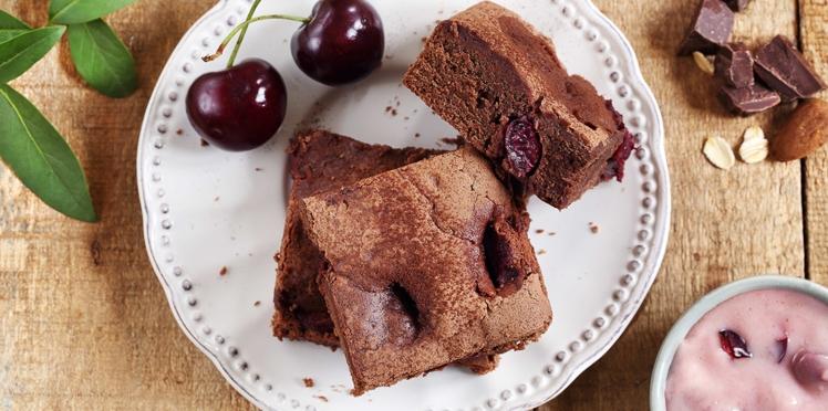 Brownie chocolat cerise