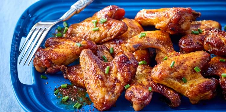Ailerons de poulet laqués à la chinoise