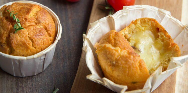Muffins aux tomates séchées & Raclette