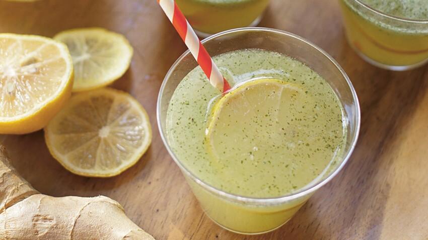 Citronnade menthe-gingembre