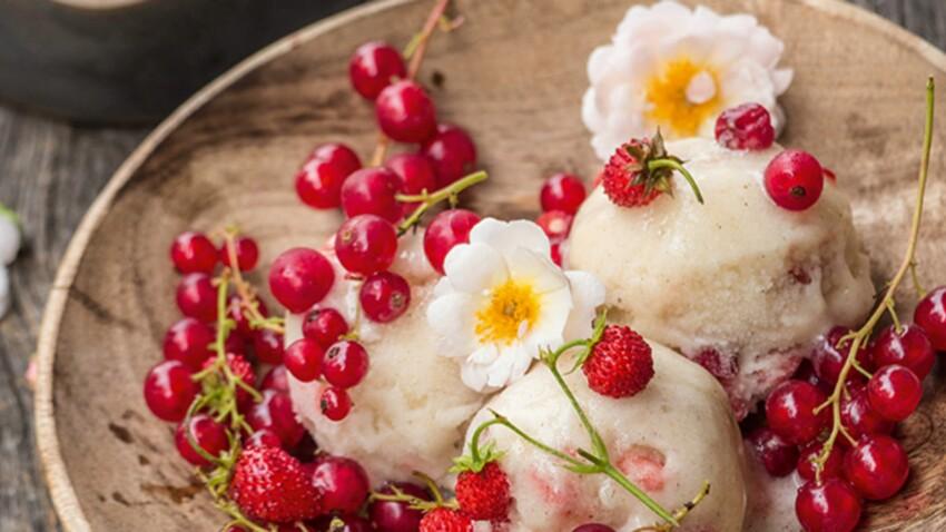 Crème glacée vanille-fraise