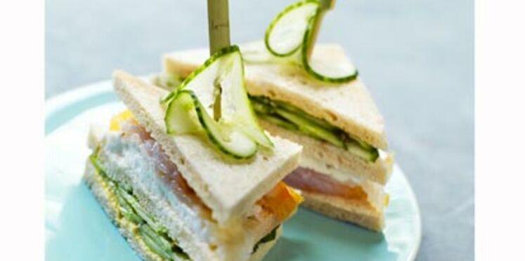Club sandwich Concombre/ Mozzarella/ Haddock