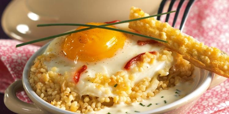 Mini cocottes d'œufs aux Céréales Gourmandes & au Maroilles