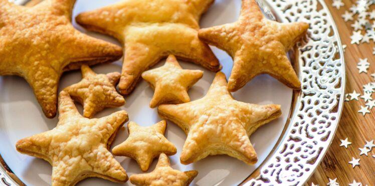 Feuilletés apéritifs de Noël en étoile