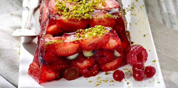 Terrine de fruits rouges au fromage blanc