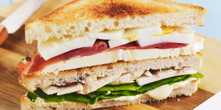 Club sandwich au chaource
