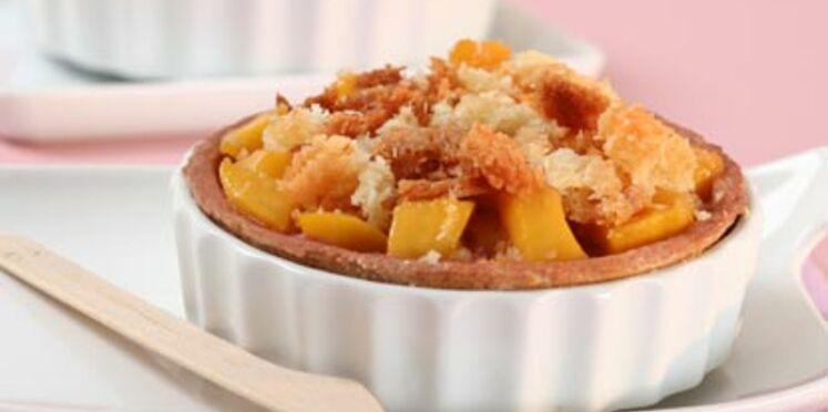 Tartelette sablée à la mangue