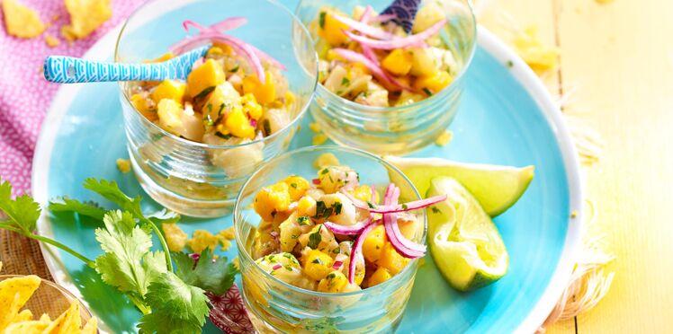 Ceviche de daurade à la mangue