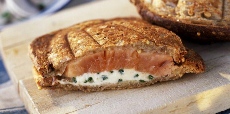 Croque-monsieur au saumon