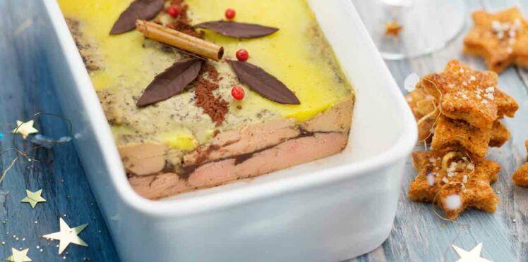 Terrine de foie gras cacao et épices