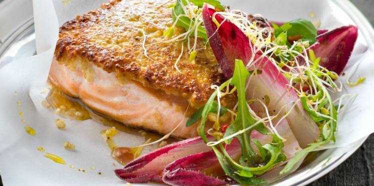 Pavés de saumon en croûte de quinoa