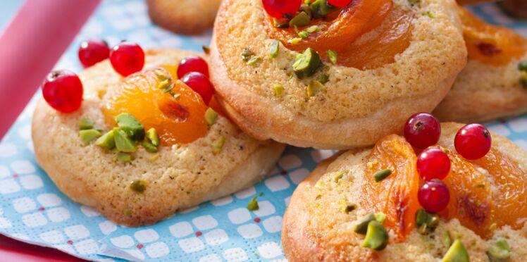Pizzettes aux abricots et pistaches