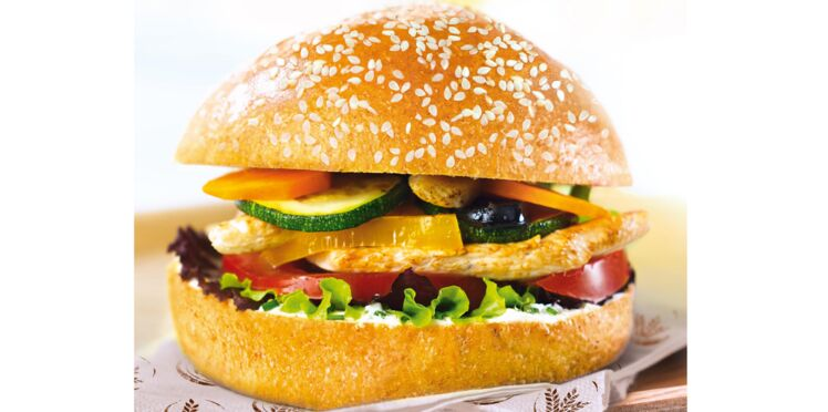 Burger brioché aux légumes du soleil