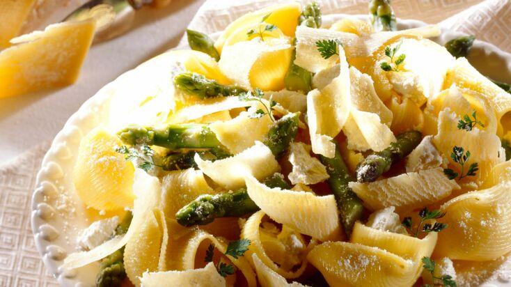 Pâtes aux asperges et parmesan