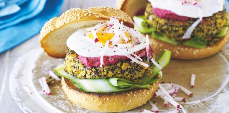Burgers aux pois chiches et quinoa