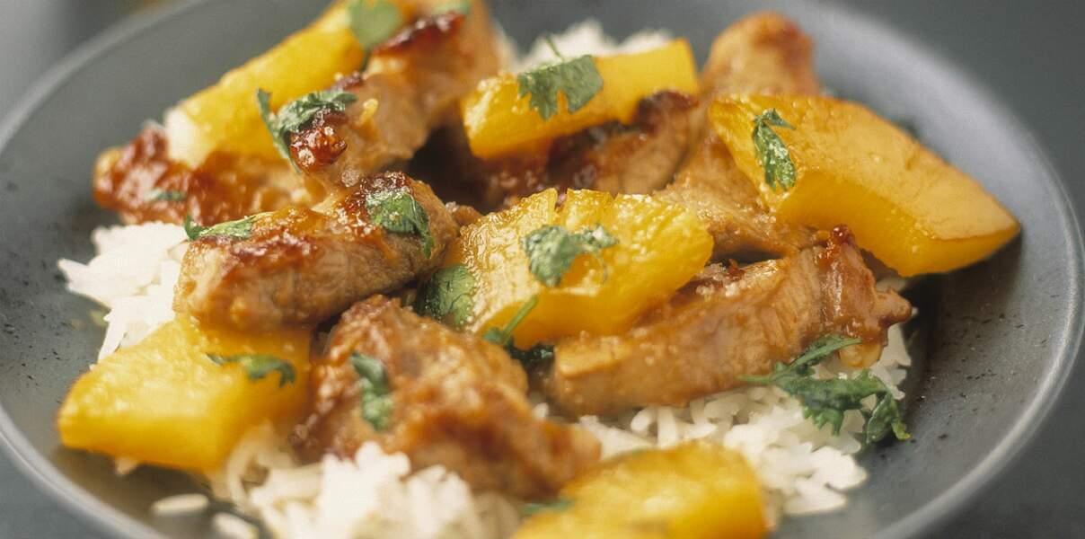 Filets de porc a l'ananas