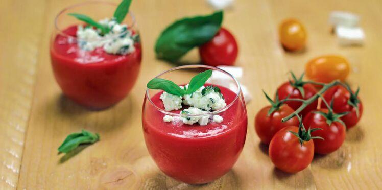 Gaspacho framboise poivron-tomate & son granité Salakis Nature