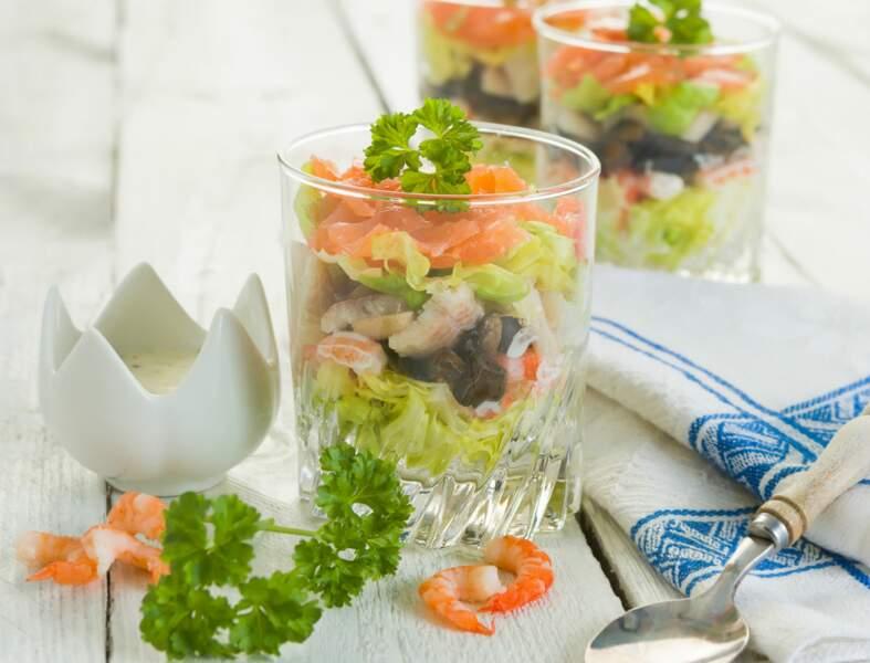 Verrines « so chic » au saumon fumé