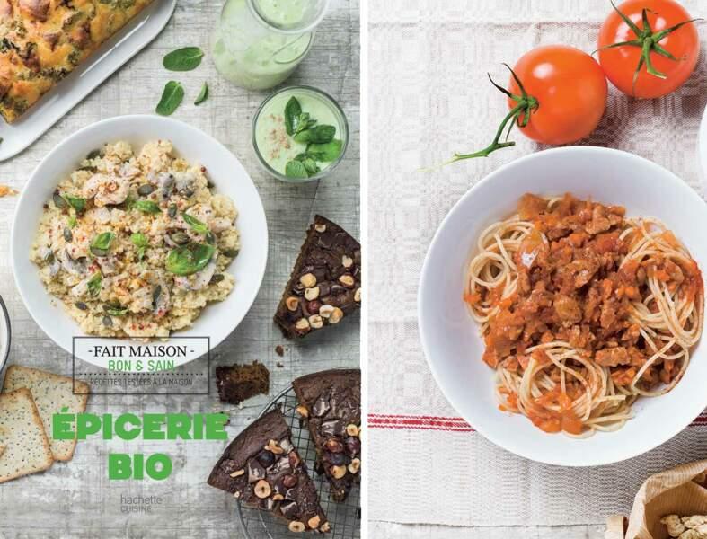 Spaghettis bolognaise végétariens