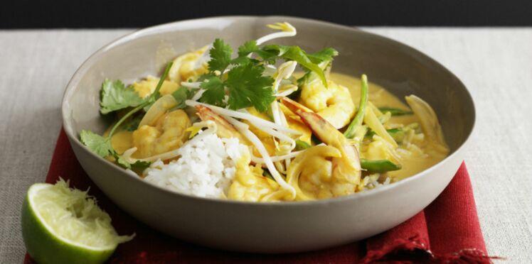 Curry indien de crevettes