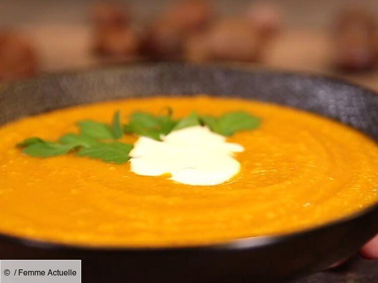 Soupe potimarron et châtaignes : découvrez les recettes de cuisine de Femme Actuelle Le MAG
